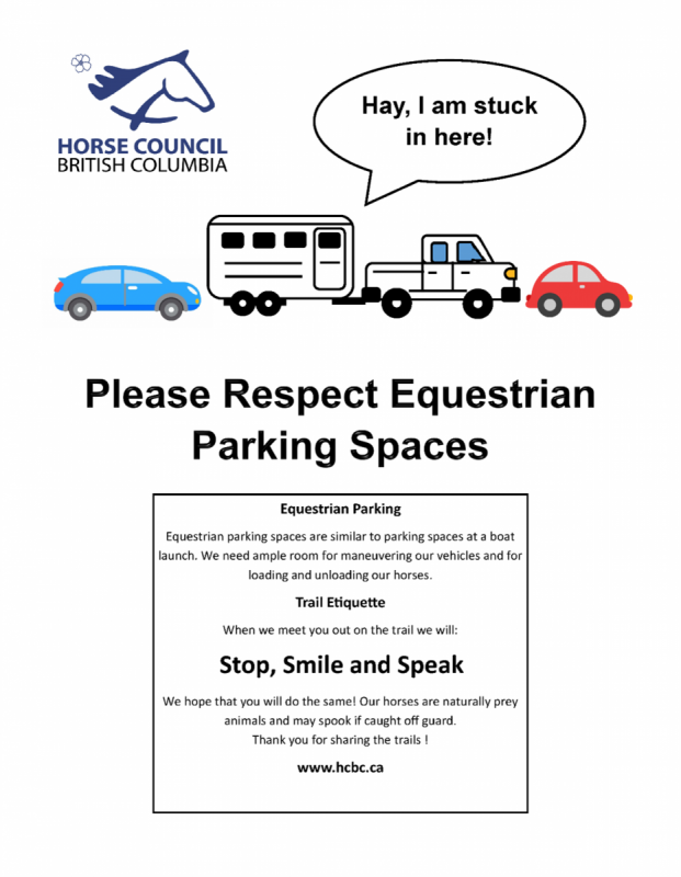 Horse Council BC News: Equestrian Parking Spaces in BC, BC Summer Games 2022, equestrian competitions bc, how to find horse trailer parking bc