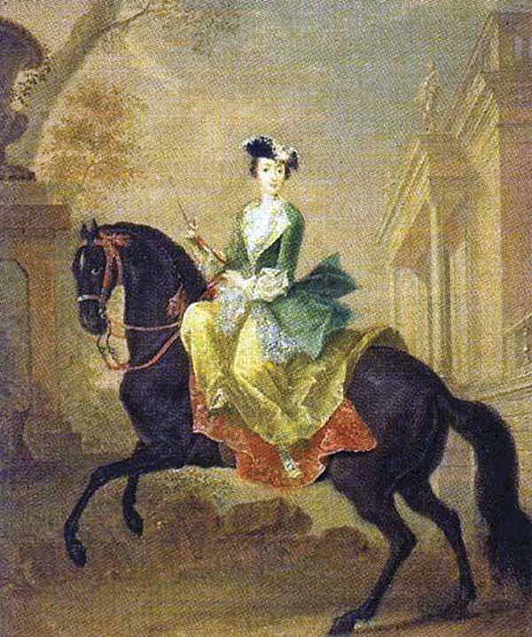 Catherine the Great aside her favourite horse