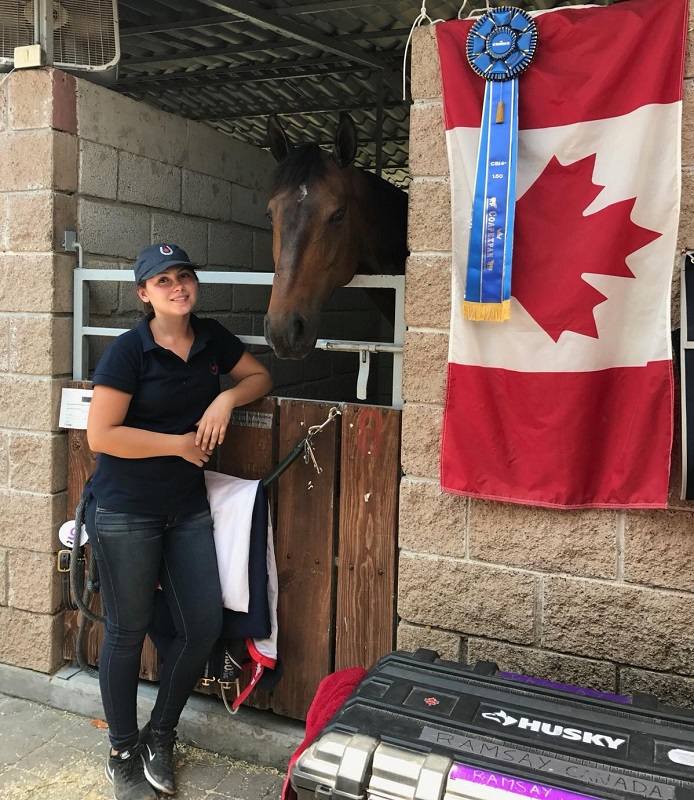 Chantel Dunlop, Western College of Veterinary Medicine, WCVM, Jill Henselwood's show jumping team, equine vocation, Manitoba equine students, Ali Ramsay