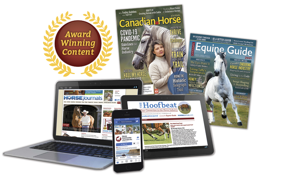 Multi-media coverage from Horse Community Journals Inc.