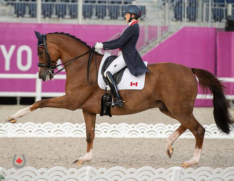 canadian olympic dressage team, tokyo dressage, horse events olympics, equestrian olympic competitions, brittany fraser-beaulieu, lindsay kellock, chris von martels