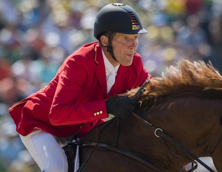Skelton Wins Britain's 1st Gold in Individual Jumping at 58
