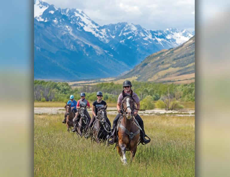 riding vacations, holidays with horses, wild women exhibitions horse rides, new zealand riding vacations