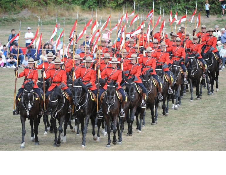 RCMP NWMP Royal Canadian Mounted Police Mountie Musical Ride Horses