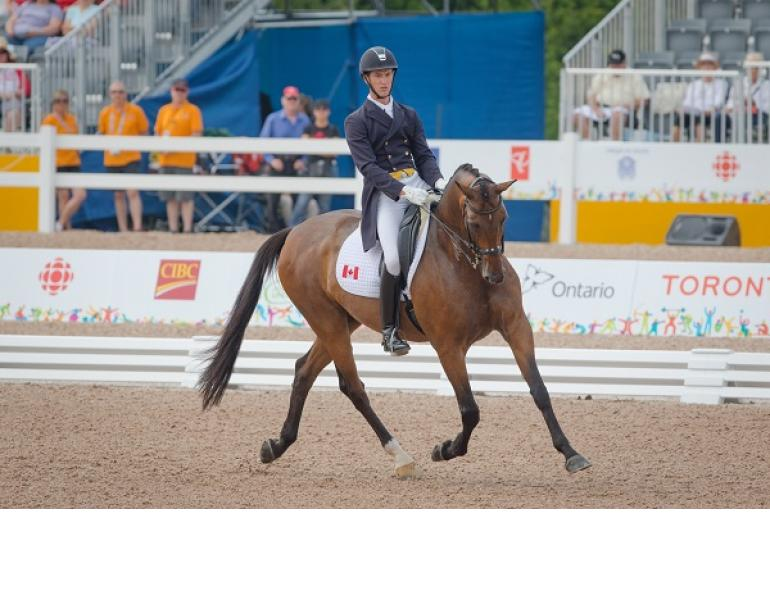 Chris von Martels Bronze, Starting Gate, dressage freestyle, TORONTO 2015 Pan American Games, Caledon Pan Am Equestrian Park, United States Equestrian Team, Steffen Peters, Laura Graves claimed the individual gold and silver medals respectively. Peters, a three-time Olympian, Alltech FEI World Equestrian Games, Belinda Trussell, Brittany Fraser